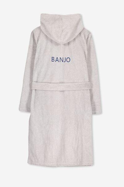 Personalised Teen Hooded Gown, GREY MARLE