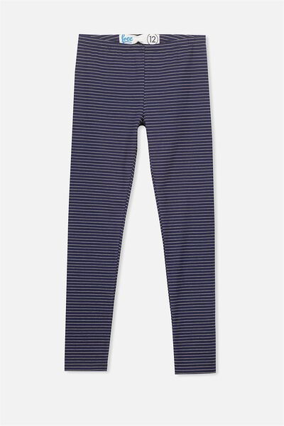 Alex Legging, PEACOAT/GOLD LUREX STRIPE
