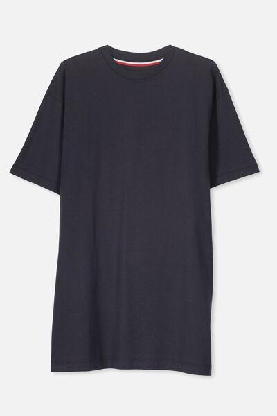 Boyfriend Tshirt Dress, SHADOW