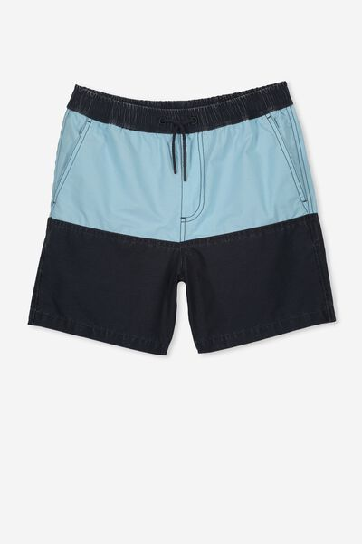 Swim Short, BLUE PANEL
