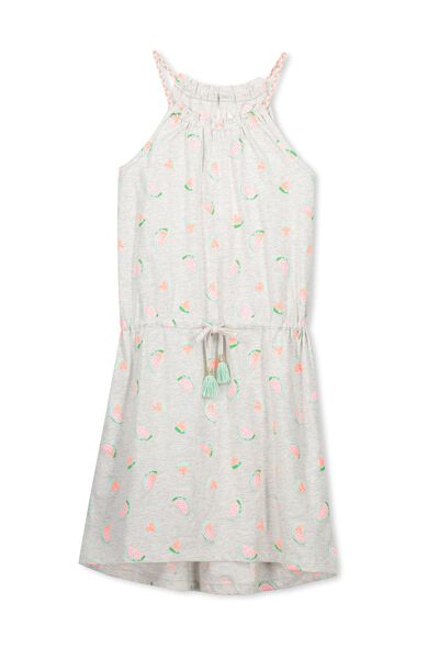 Fleur Dress, SUMMER GREY MARLE/WATERMELON