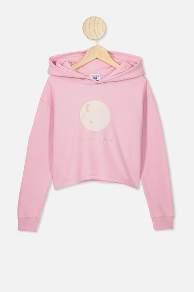 Serena Crop Hoodie, MARSHMALLOW/TO THE MOON AND BACK