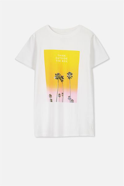 Ollie Ss Tee, WHITE/OUTSIDE THE BOX