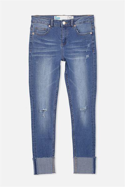 Wide Cuff Jean, ELECTRIC INDIGO