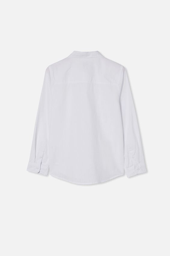 Free Boys Harper Ls Shirt, WHITE