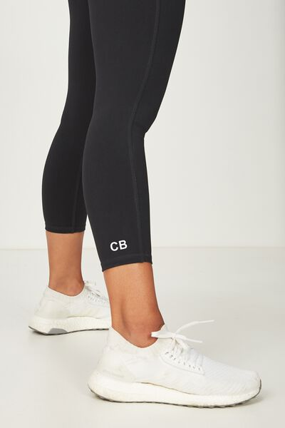 Core 7/8 Legging, BLACK PERSONALISED