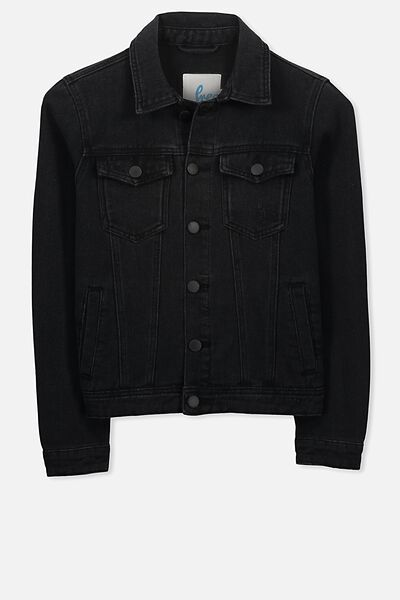 Robbie Denim Jacket, BLACK