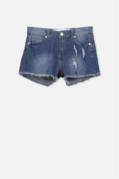 Leni Denim Short, MID BLUE (2)