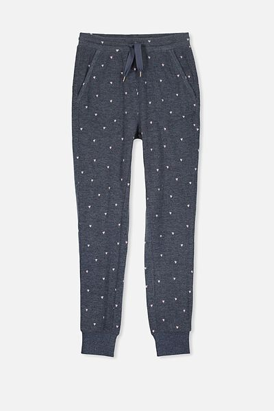 Super Soft Slouch Pant, OBRIEN BLUE/LOVE HEARTS