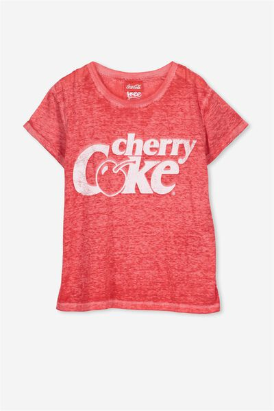 Lucy Licence Tee, CRUSHED RASPBERRY/LCN CHERRY COLA