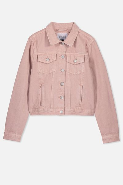 Girls Denim Jacket, DUSTY ROSE