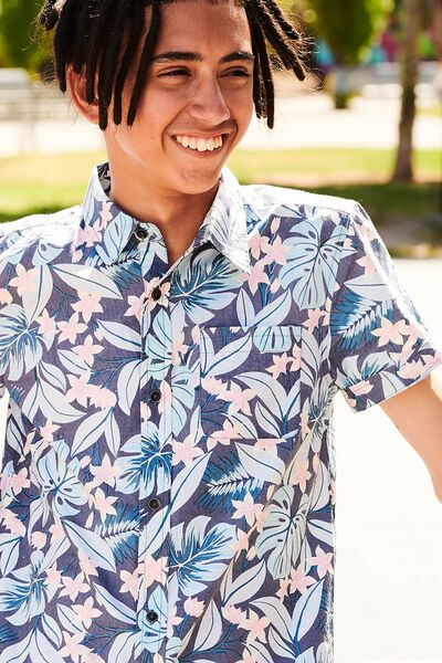 Joshua S/S Shirt, FLORAL LEAF