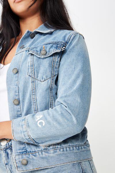Equal Denim Jacket, ORGINAL WASH PERSONALISED