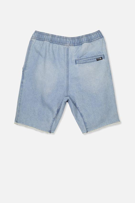 Drop Crotch Short, BLEACHED INDIGO