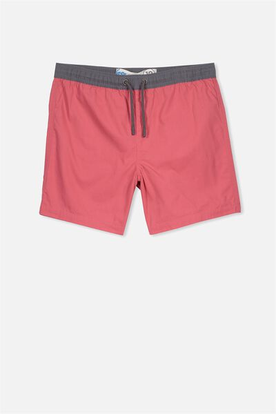 Pool Short, WASHED RED