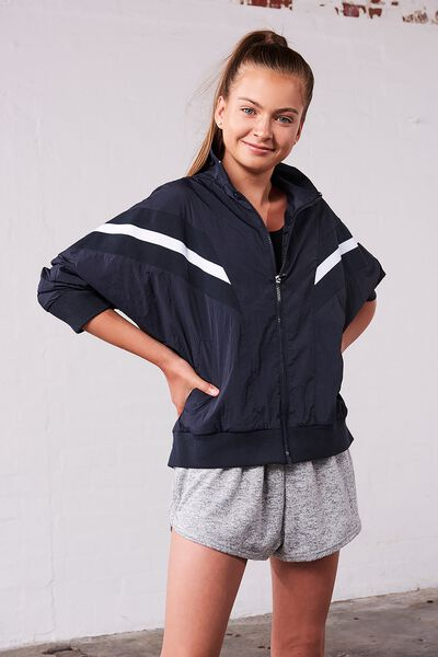 Unisex Windbreaker Jacket, NAVY