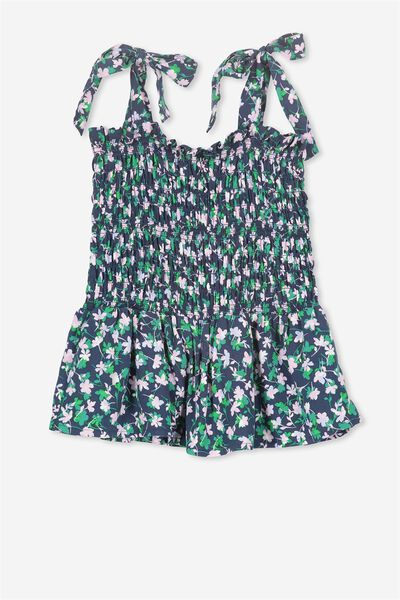 Ivy Shirred Top, DITZY CLOVER