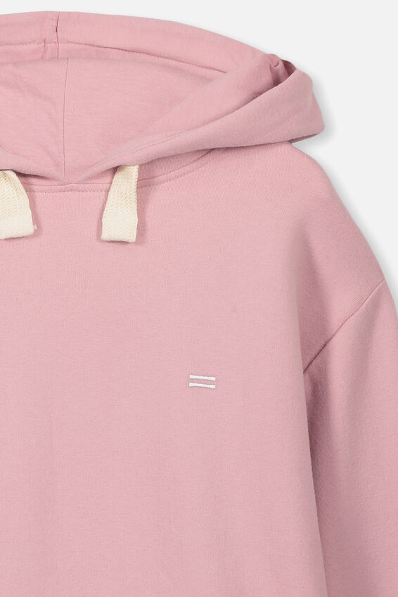 Equal Fleece Hoodie, DUSTY ROSE