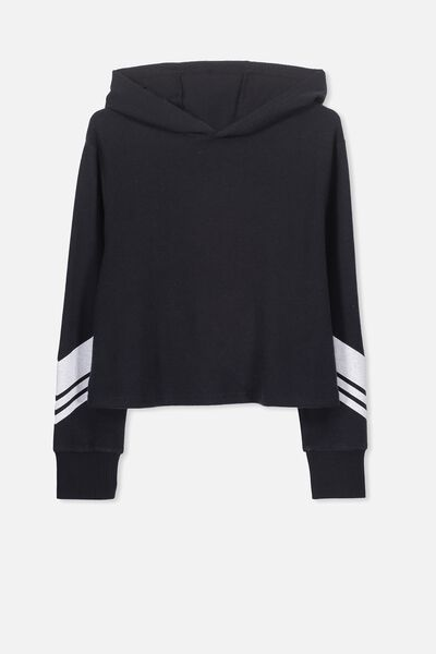 Super Soft Hoodie, SHADOW/CHEVRON SLEEVE
