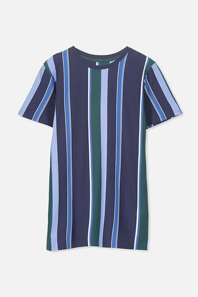 Ollie Ss Tee, WASHED NAVY/VERTICAL STRIPE