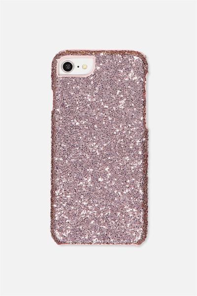 Luxe Phone Cover, ROSE GOLD GLITTER