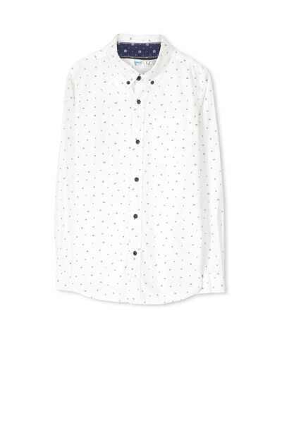 Chuck Ls Shirt, VANILLA/MINI STRIPE ROTATION
