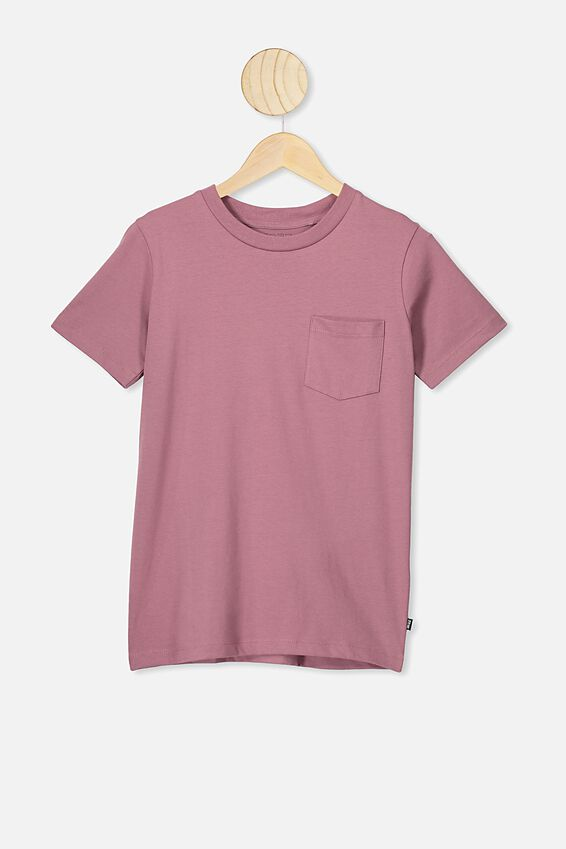Free Core Short Sleeve Tee, VINTAGE BERRY
