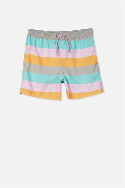 Pool Short, VAPOUR GREY/TRIPLE STRIPE