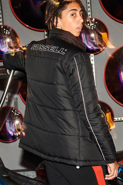 Russell Puffer Jacket, LCN RUS/BLACK