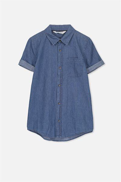 Joshua S/S Shirt, CHAMBRAY/SPOT