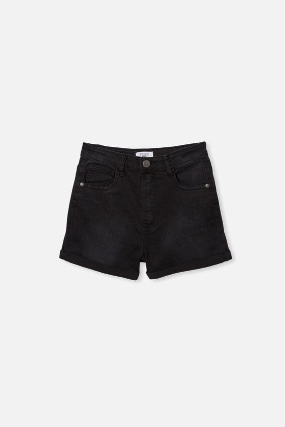 Camie Denim Short, BLACK WASH