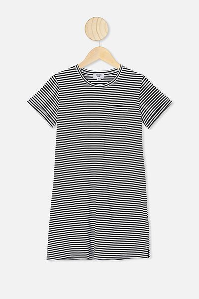 Toni Tshirt Dress, INDIAN INK/WHITE STRIPE