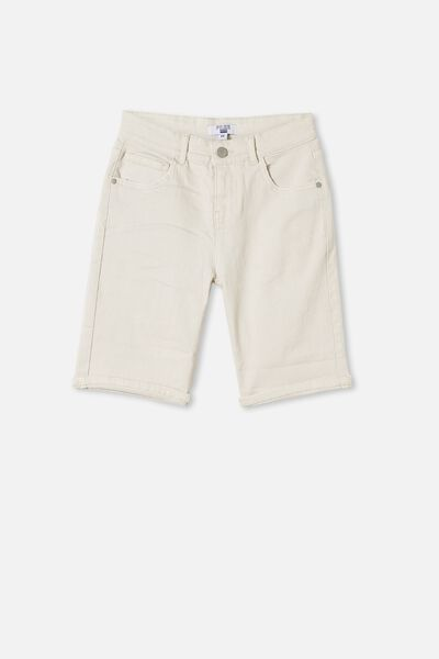 Boys Bermuda Dnm Short, ECRU