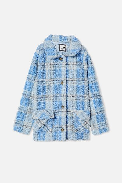 Claudia Check Jacket, DUSK BLUE CHECK
