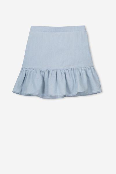 Harper Skirt, CHAMBRAY