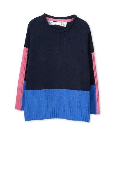 Laney Knit, OBRIEN BLUE/STRIPE