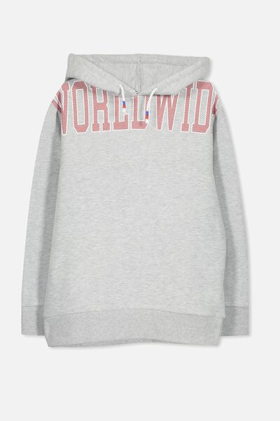 Street Hoodie, SOFT GREY MARLE/WORLDWIDE