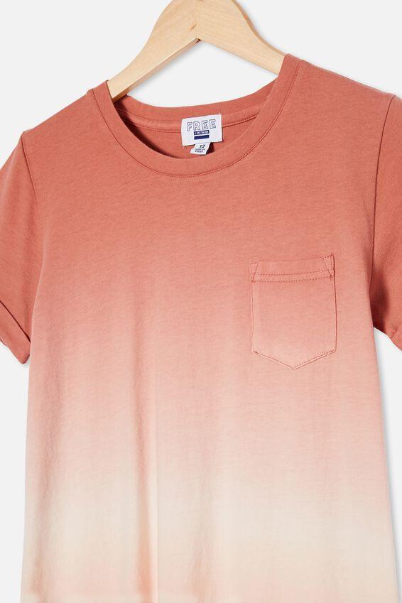 Toni Tshirt Sleeve Dress, MUSK MELON/CHUTNEY DIP DYE