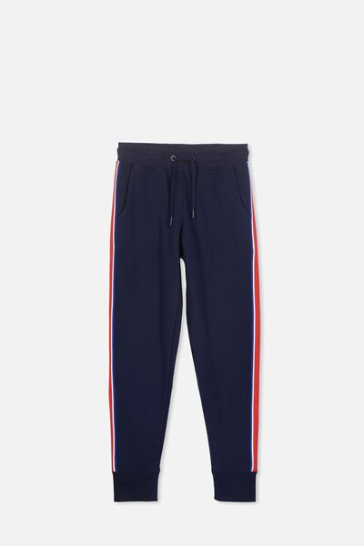 Keeper Girls Track Pant, NAVY/TAPE
