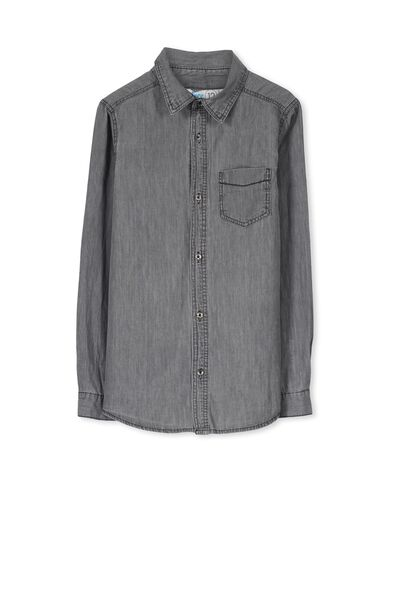 Chuck Ls Shirt, GREY CHAMBRAY