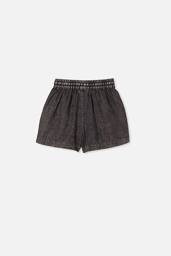 Chelsea Woven Short, BLACK CHAMBRAY