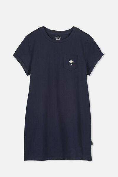Tshirt Dress, FREE NAVY/DAISY