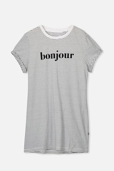 Tshirt Dress, NAVY STRIPE/BONJOUR