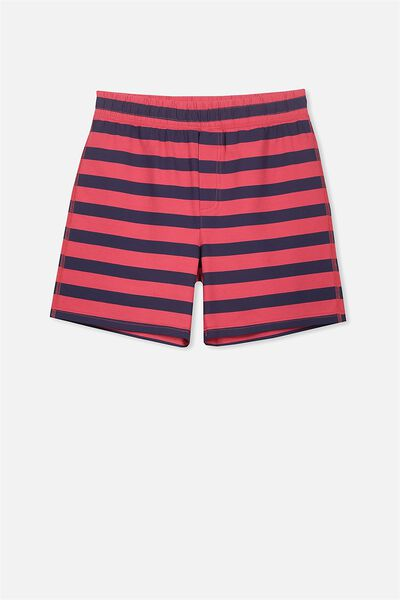 Jarvis Sleep Short, RIVER RED/WASHED NAVY STRIPE