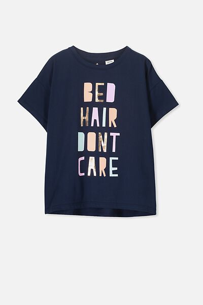 Millie Sleep Tee, OBRIEN BLUE/BED HAIR