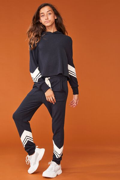 Supersoft Trackpant, SHADOW/CHEVRON STRIPE