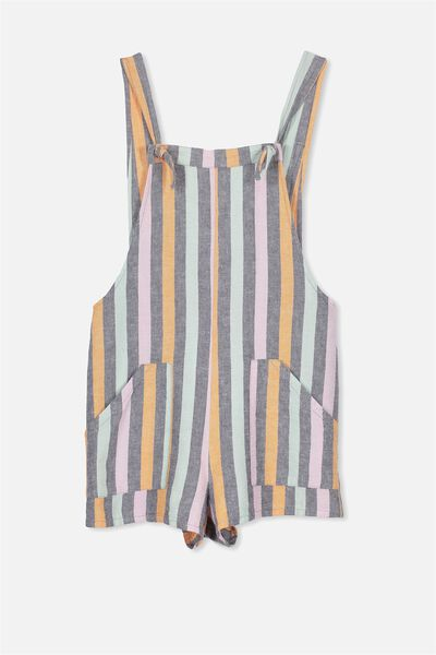 Megan Playsuit, MULTI STRIPE