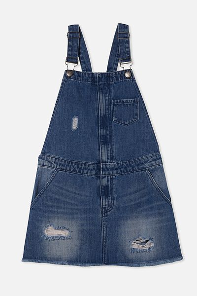 Demi Denim Skirtall, RICH INDIGO
