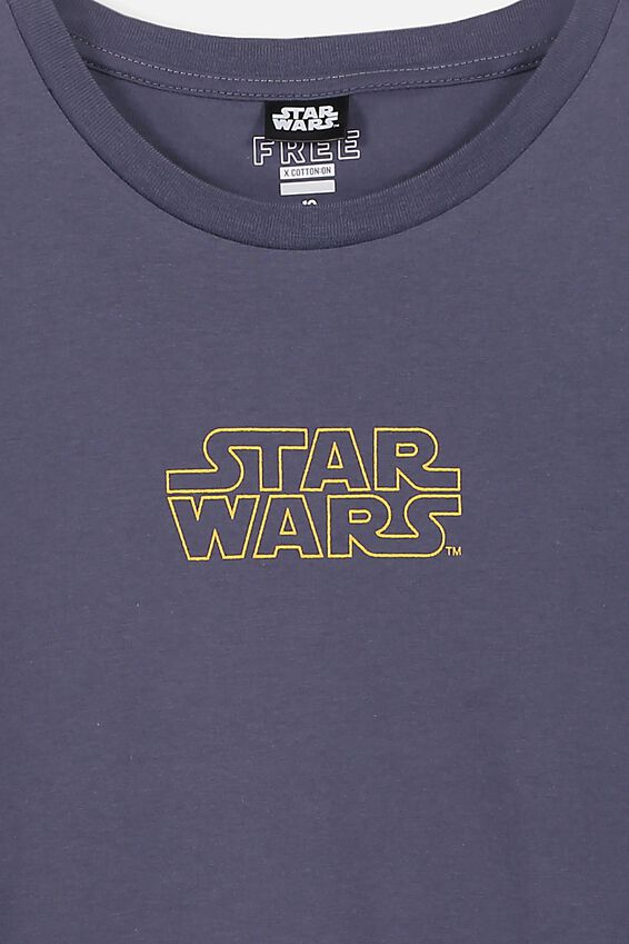 Boys License Short Sleeve Tee, LCN DIS WASHED BLUE/STAR WARS