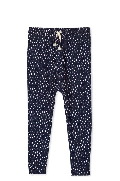 Hayley Trackpant, OBRIEN BLUE/PINK LADY SPOT